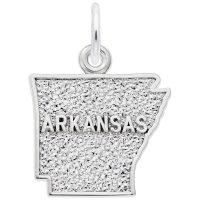 Arkansas Map Charm