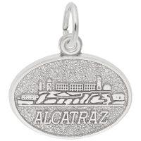 Alcatraz Oval Disc Charm