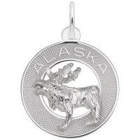 Alaska Moose Ring Charm