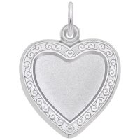 Heart Scroll Photoart Charm