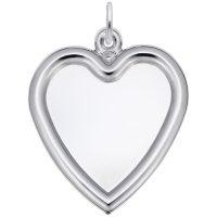 Large Heart Photoart Charm
