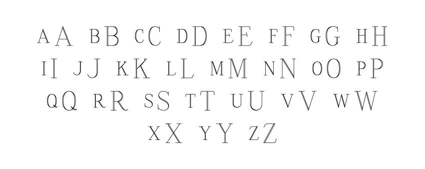 Engravng Monogram Block